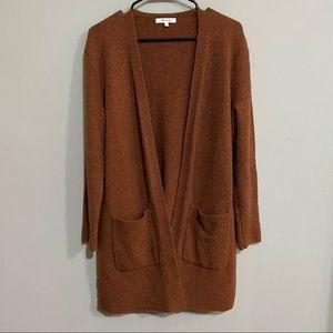 Madewell Open Cardigan Sweater Orange Women's XS